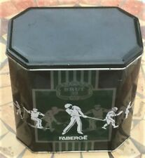 Vintage Italian FABERGE BRUT 33 TIN After Shave Shaving Cream Golf Sports Theme