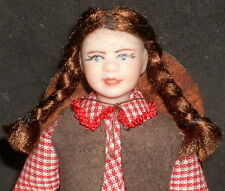 1:12 Miniature Doll Girl Child White Cowgirl Western 4009 Cindy's Dollhouse