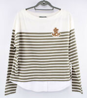 LAUREN RALPH LAUREN Women's Striped Layered Look Top, size Petite Large