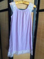 Vintage Berkcliff Lavender Purple NylonBabydoll Nightgown Nightie Bust 37
