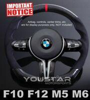 UK STOCK Red DTM Genuine CARBON Alcantara Steering Wheel for BMW M5 F10 F12 F07
