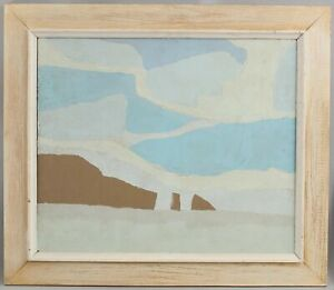 1970s Vintage FREDERIC M FAILLACE Modernist Abstract Landscape Painting NR