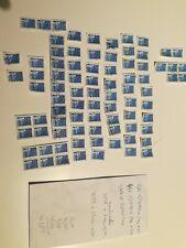 Lot 83 exemplaires tarifs etrangers bleu marianne de luquet cote 104 euros