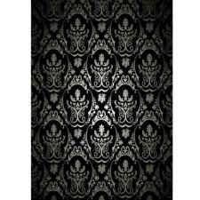 3x5FT Black Retro Damask Studio Photography Backdrop Background Photo Props