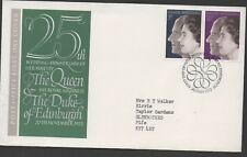 GB 1972 FDC Silver Wedding Bureau Edinburgh postmark set stamps