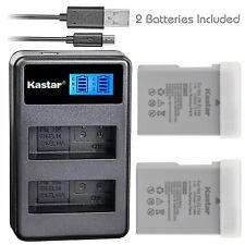 Kastar 2 Battery + LCD Dual Charger for Nikon EN-EL14A EL14A & Nikon D3200 DSLR
