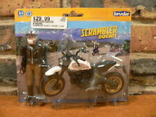 Bruder Scrambler Ducati Desert Sled with Rider Figure,1:16~New, Sealed Package