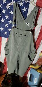 Cherokee Bib Overall Shorts Medium Wash Womens Size 18