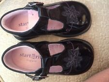 START RITE Black Patent Leather SHOES TStraps 5.5 UK 6.5 US Toddler GIRL ENGLAND