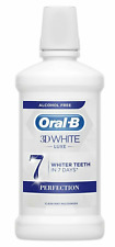 ORAL-B 3D White Luxe Whiter Teeth in 7 Days Mouthwash 500ml