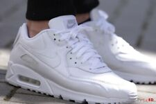 UK size 6 Nike Air Max 90 women's white leather sports trainers / EU 39 sneakers