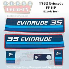 1982 Evinrude 35HP Electric Start Outboard Reproduction Pc Vinyl Decals 35ECN