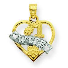 "Women's 10K Gold""#1 Wife"" Charm Pendant MSRP $91"