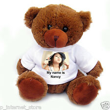 Personalised T-Shirt Teddy Bear 5 colour - Custom Print Bear 17 cm Sitting (S)