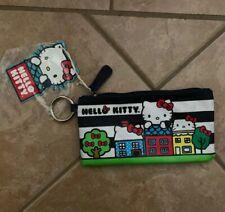 Hello Kitty Sanrio Loungfly Pencil Case Pouch Zipper Keyring House NEW