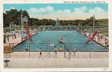 Postcard Mineral Springs Swimming Pool Pekin IL