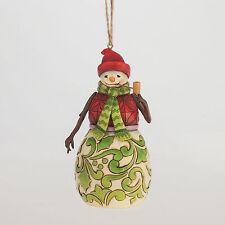 Jim Shore Red & Green Snowman Christmas Ornament ~ 4047792