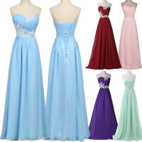 Lady Long Wedding Evening Gown Ball Party Maxi Dress Bridesmaid Formal Prom 6/20