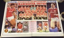 1991 League Cup Final Double Sided Poster Man Utd v Sheffield Wednesday