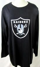 Oakland Raiders Womens Plus Size 1X Long Sleeve Screened Logo T-Shirt ARAD 215