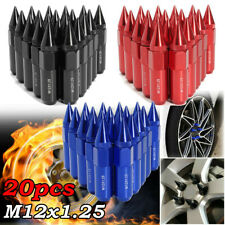 20pcs M12X1.25 Aluminum Spiked 60mm Car Extended Tuner Wheels / Rims Lug Nuts US