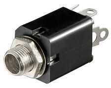 GOOBAY Jack Telaio Presa 6.35 mm Stereo Versione In Plastica con contatto di commutazione