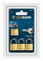 "Master Lock 4 Pack, 3/4"" Brass Padlock"