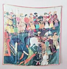 The Royal Collection ENGLAND Silk Scarf Middle Eastern Men Stallion Elephant