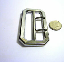 RAF metal buckle chrome metal two prong for a 57 mm wide for a tunic belt