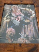 Framed Original Print Jim henson Labyrinth loot crate DX Porters #4 david bowie