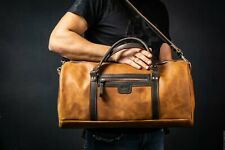 Leather Travel Bag (Duffel Bag) by POHVALIN