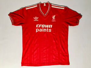 Liverpool Adult S Home Football Shirt 1985 - 1997 Adidas / Crown Paints