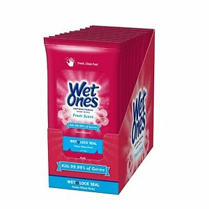 Wet Ones Hand Wipes, Fresh Scent, 20 Count (Pack of 10)