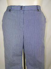 Alfred Dunner 10 Medium Petite 10P Womens Size Blue White Striped Bermuda Shorts
