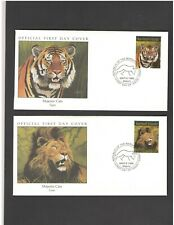 MARSHALL ISLANDS:   4 FIRST DAY COVERS-MAJESTIC CATS -Fine Used.