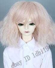 """1/3 8-9""""LUTS Pullip DD Dollfie SD BJD Doll Wig Short Light Pink Hair"""