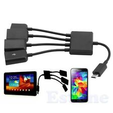 Micro USB 4 Port Power Charging OTG Hub Cable For Smartphone Android Tablet PC