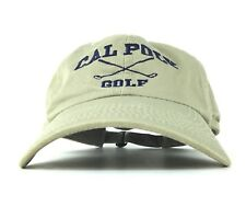 Cal Poly Golf Embroidered Baseball Cap Hat Adj Adult Size Cotton California