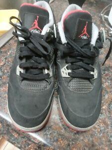 Nike Air Jordan 4 Retro GS- Youth- Size 7Y- Bred-[408452-089] Basketball