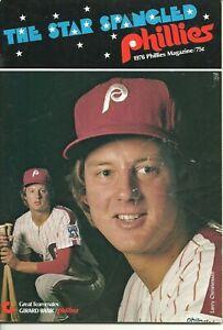 1976 New York Mets @ Philadelphia Phillies Game Program Larry Christenson MLB