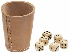 LEATHER DICE CUP POKER BAR GAMES CASINO SHAKER (Does not include the dice)