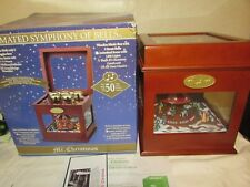 Mr. Christmas Animated SYMPHONY OF BELLS Wood Music Box CAROUSEL