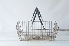 Market Basket Wire Basket Large Vintage Industrial Wire Box Laundry Basket Groce