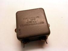 MIcamold Bathtub Capacitor 2uf 400v dc PIO  PULLS (Lot of 1)