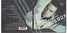 ROBBIE WILLIAMS rudebox CD ALBUM édition limitée CD + DVD
