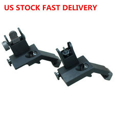 Set Front&Rear Flip Up 45 Degree Offset Rapid Transition Backup Iron Sight Metal
