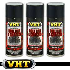 VHT Roll Bar & Chassis High Temperature Spray Paint Satin Black SP671 x 3 cans