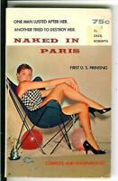 NAKED IN PARIS by Zach Roberts, rare US Carousel sleaze gga pulp vintage pb