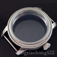44mm Watch Classic big CASE PILOT steel fit Unitas 6498 6497 movement C016