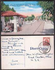 1941 Mexico Postcard - Ciudad Juarez - International Bridge